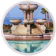 View From Paradise Round Beach Towel