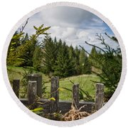 View From Picket Fence Round Beach Towel