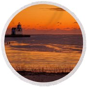 View From Shore Round Beach Towel