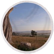 View From Table Bluff Round Beach Towel
