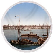 View From The Bastille - Bordeaux - France Ca 1900 Round Beach Towel by International  Images