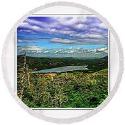 View From The Hilltop 2 Round Beach Towel