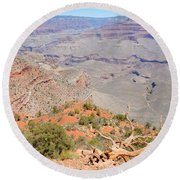 View From The South Kaibab Trail II Round Beach Towel