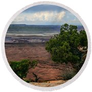 View Of Canyonland Round Beach Towel