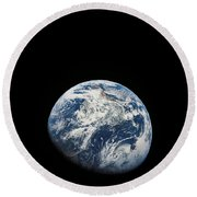 View Of Earth Taken From The Aollo 8 Round Beach Towel