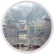 View Of Fenghuang Round Beach Towel