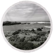 View Of The Cove Round Beach Towel