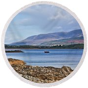 View Of The Isle Of Arran Round Beach Towel