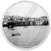 View Of Tophane - Istanbul - From The Sea - Turkey Round Beach Towel