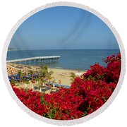 View Over Paradise Round Beach Towel