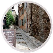 Village Alley Round Beach Towel