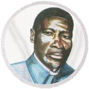 Vincent Mulago Round Beach Towel