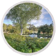 Vines And Trees Round Beach Towel