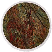 Vines And Twines  Round Beach Towel