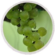 Vineyard Grapes I Round Beach Towel