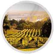 Vineyard Round Beach Towel by Voisin and Phanie and Photo Researchers