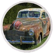 Vintage Automobile No.0488 Round Beach Towel