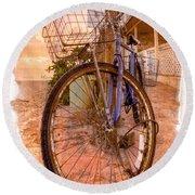 Vintage  Bicycle Round Beach Towel