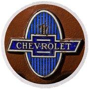 Vintage Chevrolet Emblem Round Beach Towel