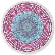 Vintage Color Circle Round Beach Towel