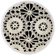 Vintage Crocheted Doily Round Beach Towel