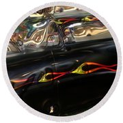 Vintage Metal Round Beach Towel