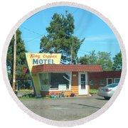 Vintage Motel Round Beach Towel