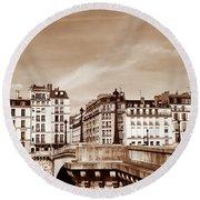Vintage Paris 8 Round Beach Towel