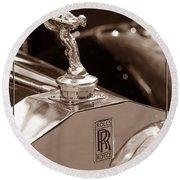Vintage Rolls Royce 1 Round Beach Towel