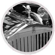Vintage Rolls Royce 2 Round Beach Towel