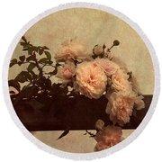 Vintage Roses Round Beach Towel