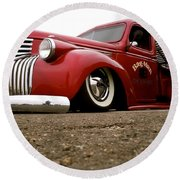 Vintage Style Hot Rod Truck Round Beach Towel