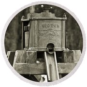 Vintage Water Pump Round Beach Towel