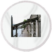 Virginia City Montana 03 Round Beach Towel