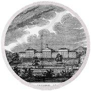 Virginia: College, 1856 Round Beach Towel