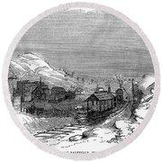 Virginia: Salt Mine, 1857 Round Beach Towel
