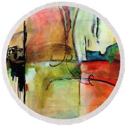 Vision Constructed Round Beach Towel
