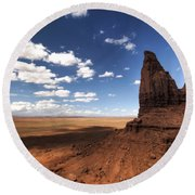 Visions Of Monument Valley  Round Beach Towel