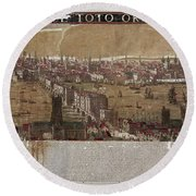Visscher: London, 1650 Round Beach Towel