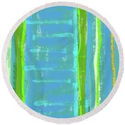 Visual Cadence Xi Round Beach Towel