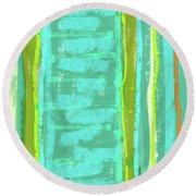 Visual Cadence Xiii Round Beach Towel