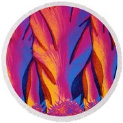 Vitamin E Crystals Round Beach Towel