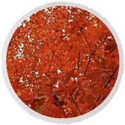 Vividly Sugar Maple Round Beach Towel