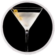 Vodka Martini Round Beach Towel