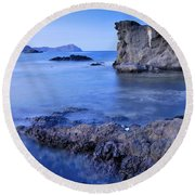 Volcanic Reef Round Beach Towel