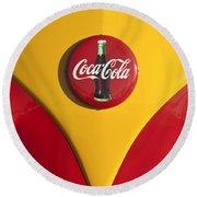 Volkswagen Vw Bus Coco Cola Emblem Round Beach Towel