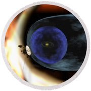 Voyager 2 Spacecraft Studies The Outer Round Beach Towel