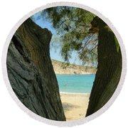Voyeur Round Beach Towel