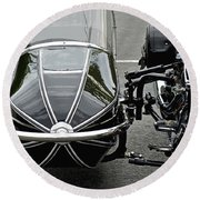 Vulcan Classic Side Car II Round Beach Towel