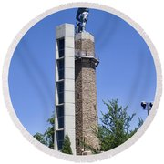 Vulcan Park Statue In Birmingham Round Beach Towel